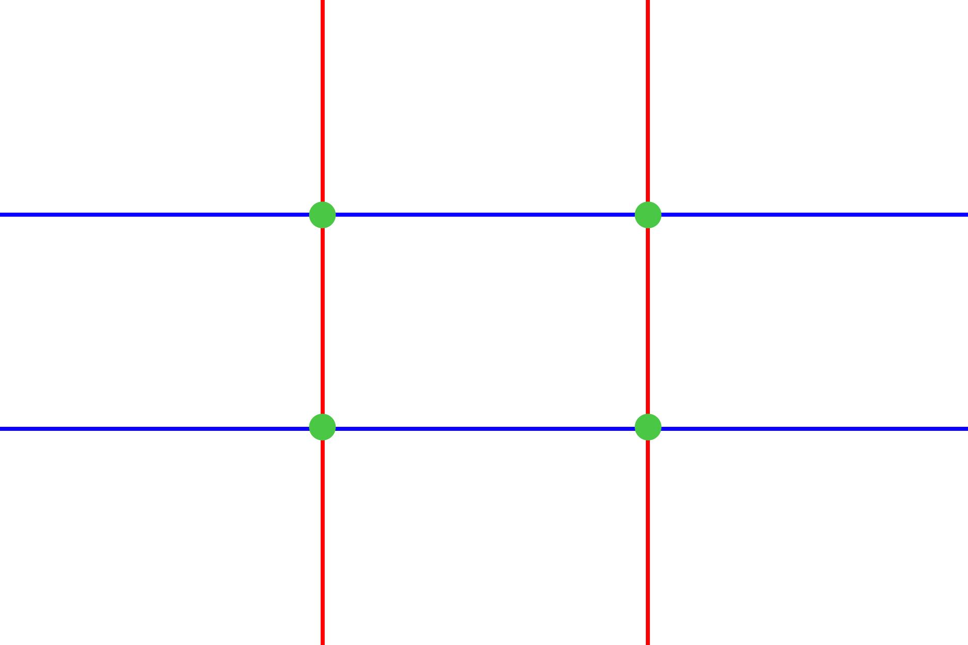 Prinzip Drittel-Regel mit Schnittpunkten